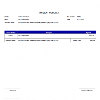 QuickBooks Payment Voucher Printing