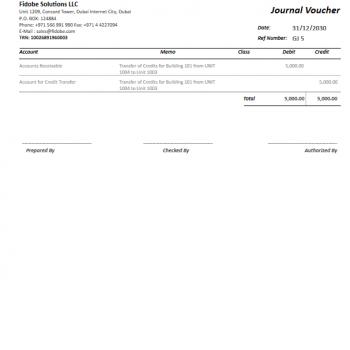 QuickBooks Journal Voucher Printing